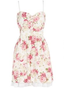 floral dress- maybe with a denim jacket?