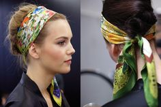 hair styles using scarves - Google Search