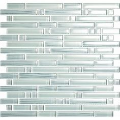 EPOCH Architectural Surfaces�5-Pack 12-in x 12-in Brushstrokes Whites Glass Mosaic Wall Tile (Actuals 12-in x 12-in)