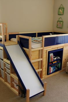 You can buy this $4000 dollar Ikea bed or you can make one yourself for cheap!