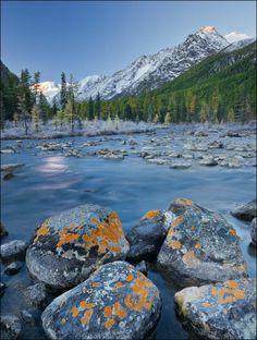 Maashey river, Altai, Siberia, Russia.