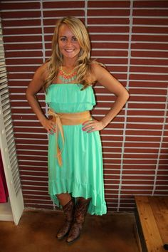 i have this dress just need the cowboy boots!!