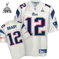New England Patriots 12 Tom Brady White 2012 Super Bowl Jersey 21.99  Free  Shipping 0542e4c02