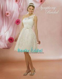 one-shoulder short lace dress