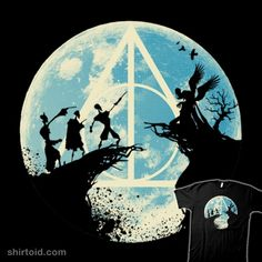 Three Brothers Fairytale #book #film #harrypotter #kempo24 #moon #movie #silhouette