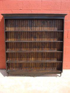 Antique Pine Plate Rack Antique Wall Shelf Antique Cup Holder & Wooden Plate Racks Wall Mounted | Antique 19C Victorian pine dresser ...