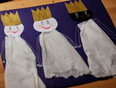 My tři králové . Winter Crafts For Kids, Kindergarten, Lego, Children, Christmas, How To Make, Kids Activity Ideas, Art For Toddlers, Crowns