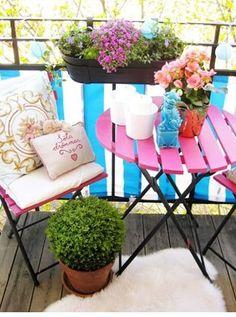 Colores en la terraza.//