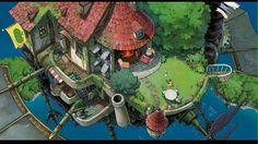 Howl's moving castle Exterior Garden