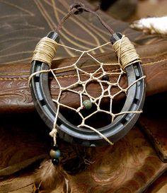 Handmade Horseshoe Dream Catcher