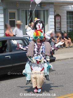 Original Three Clowns in One Optical Illusion Costume...