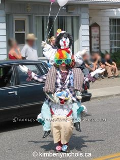 Original Three Clowns in One Optical Illusion Costume...
