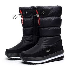 e1ee3f0ac5eaac New 2018 women s boots platform winter shoes thick plush non-slip  waterproof snow boots for