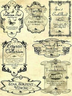 Potion labels hp_class_potions in 2019 бутылочные этикетки, Deco Harry Potter, Harry Potter Potions, Theme Harry Potter, Harry Potter Scrapbook, Halloween Apothecary Labels, Halloween Potion Bottles, Printable Halloween Labels, Apothecary Jars, Printable Labels