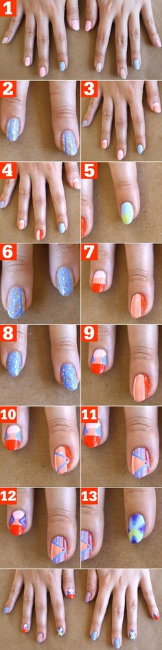 Even if you'll be following summer's big music fests from home, a cool tribal mani will put you in the festival spirit! Celebrity manicurist Whitney Gibson created this trendy mix-and-match mani that's surprisingly easy to pull off when you break it down. Check out the step by step tutorial below—you can rock all the patterns at once, or just pick one to master…