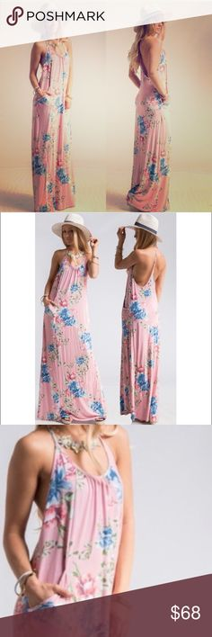 ⭐️COMING NEXT WEEK! Pre-order Pink Floral Maxi This gorgeous Pink Floral Maxi Dress is perfect for Summer!! It is brand new and will arrive by the end of next week. FYI If you preorder today, I won't be able to ship until next Friday May 26th 2017! Dresses Maxi