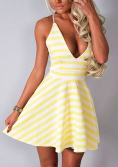 Pink Boutique Sweet vida yellow & white stripe #skater #dress http://www.pinkboutique.co.uk/new-in/sweet-vida-yellow-and-white-stripe-skater-dress.html #pinkboutique