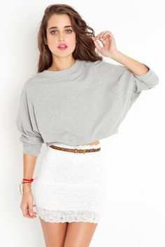 Lace & Long sleeves.