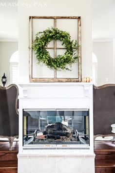 Decorating with Boxwood Wreaths