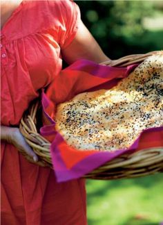 Italiensk foccacciabrød med krydderier