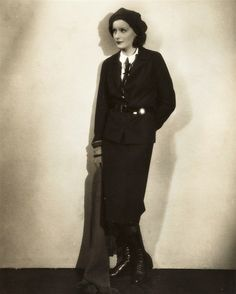 Greta Garbo Early Cross Dressing Photo in Man's Suit and Tie