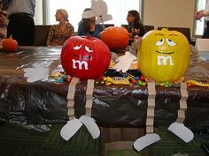 m & m decorated pumpkins