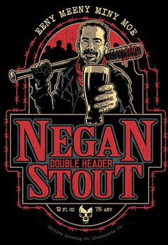 Enjoy this Negan Double Header Stout shirt. We think the Saviors would approve… Walking Dead Funny, Fear The Walking Dead, Horror Shirts, Negan Lucille, Double Header, Alexandria Virginia, Dead Zombie, Stuff And Thangs, Image Comics