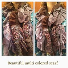 Multi colored scarf Beautiful multi colored scarf.  Purple, brown and a mix of various colors.  So pretty!!!! Accessories Scarves & Wraps