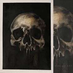 SOLD OUT skull from the seriess of anatomical paintings©MWeissArt 2018 acrylics & oils 18 x 24 cm paper the other one from the seriess&nbs. from the seriess of anatomical paintings Traditional Art, Skulls, Paintings, Deviantart, Artist, Paint, Painting Art, Artists, Painting