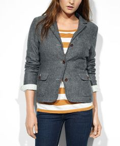 Tweed Blazer $148.00 - A classic blazer in tweed is one of this season's must haves.  Get yours at Levi's.  #fallfashion