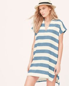 Loft Beach Cabana Stripe Swimsuit Cover-Up