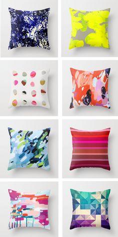 Bright delight cushions.