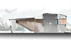 Un centro cultural sobre la costa del río