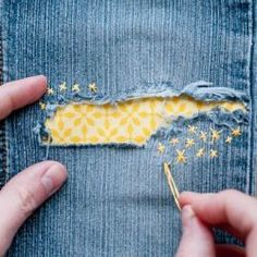 Great tips on mending clothes in cute ways