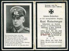 orig. WK2 STERBEBILD - DEATH CARD - Gebirgsjäger - Stylos auf Kreta Mai 1941