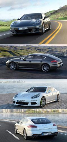 I will take the white one. New Porsche Panamera 4S