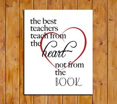 Teacher's Day Printable Art Print The Best by ScubamouseStudiosJr, $5.00