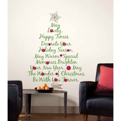 Christmas Tree Quote Giant Wall Decal. Use code: IHEARTNAPTIME for 20% off