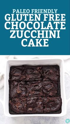 The BEST Gluten Free Chocolate Zucchini Cake. This gorgeous gluten free zucch. Gluten Free Zucchini Recipes, Wheat Free Recipes, Gluten Free Baking, Dairy Free Recipes, Chocolate Zucchini Brownies, Dairy Free Chocolate Cake, Paleo Chocolate, Chocolate Frosting, Egg Free Pancakes