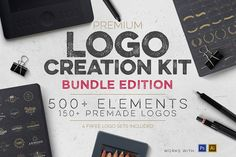 Professional Logo Creation Kit Bundle with 500+ Elements for only $14 (52% Off)