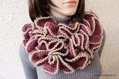 Ravelry: Ruffle Scarf Unique Design pattern by Lyubava Crochet