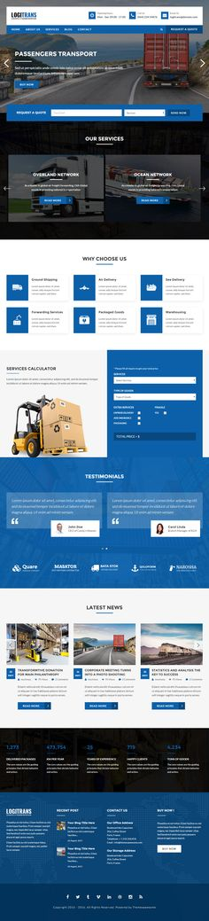 LogiTrans is Premium full Responsive Logistic HTML5 Template. Retina Ready. Parallax Scrolling. Bootstrap 3 Framework. Test free demo at: http://www.responsivemiracle.com/logitrans-premium-responsive-logistic-html5-template/
