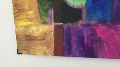 Acrylmalerei (Abstrakte Kunst) Bilder ohne Löcher in der Wand aufhängen