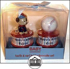 Baby Essentials Tooth and Curl Holder Keepsake Set. Baseball Theme. by Baby Essentials  ✿ Regalos para recién nacidos - Bebes ✿ ▬► Ver oferta: http://comprar.io/goto/B00IC9P4SO