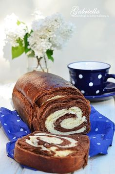 Diet Desserts, Dessert Recipes, Bread Recipes, Cooking Recipes, Bread Dough Recipe, Hungarian Recipes, Bread And Pastries, Sweet Bread, Bread Baking