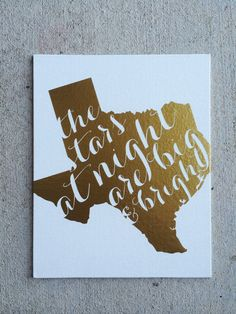 Deep In The Heart Of Texas Print by PrettyLettersShop on Etsy