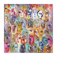 Global Gallery Faces by Italo Corrado (Framed) Canvas Artwork, Canvas Art Prints, Canvas Wall Art, Canvas Canvas, Oliver Gal, Painting Frames, Painting Prints, Paintings, Arte Shop