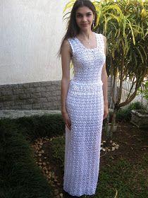 Vestido de noiva simples criado por mim: Celeida Artes em Fios.   Modelo: Letícia Ribeiro.    Receita de Celeida...