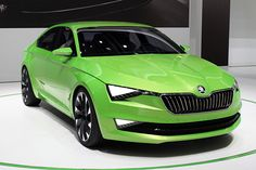Skoda VisionC concept at the 2014 Geneva Motor Show, front three-quarter view Taylor Thompson, Vw Group, Volkswagen Group, Geneva Motor Show, Car Colors, Automobile Industry, Concept Cars, Cars And Motorcycles, Green Cars