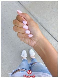 The most beautiful pink nails and pink nail colors! I've showcased light pink nails, blush pink nails, pink nails with a glitter accent, rose pink nails, and matte pink nails Cute Nails, Pretty Nails, Blush Pink Nails, Matte Pink, Light Pink Nails, Pink Gel Nails, Sns Nails Colors, Natural Nail Designs, Dipped Nails